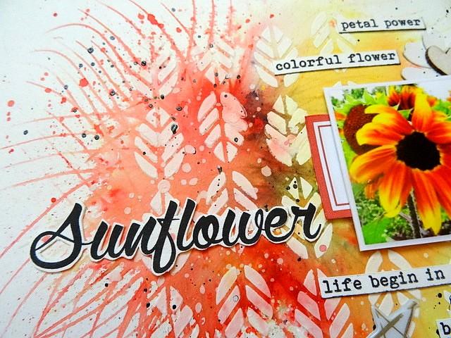 Sunflower - Relance Challenge S211 - Drôles de pinceaux - DT 52 Rue Scrapcopines (2)