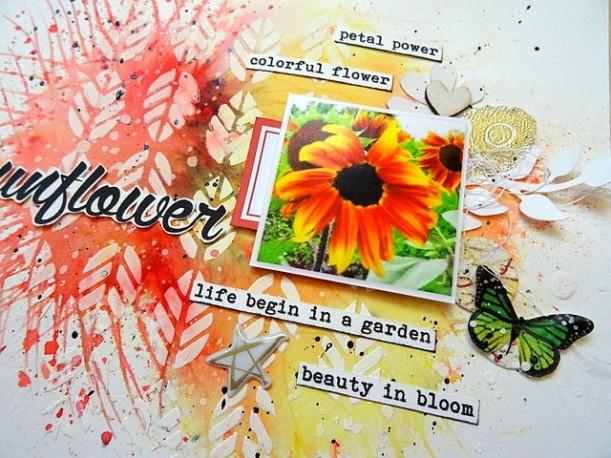 Sunflower - Relance Challenge S211 - Drôles de pinceaux - DT 52 Rue Scrapcopines (3)